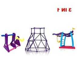 TwitterPlaza 3 In 1 Seesaw Climbing Stand For Finger Monkey