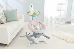 Fisher-Price 4-in-1 Smart Connect Cradle 'n Swing - Pink Sha