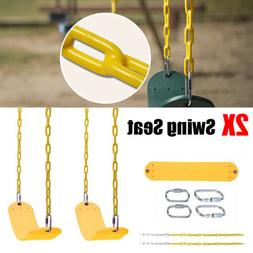 2PC Heavy Duty Swing Seat Set Accessories Replacement Slides