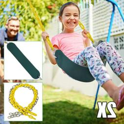 2X Outdoor Swing Seat With 1.5M Chains Accessories Slides Se