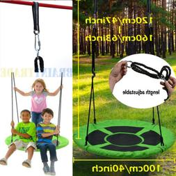 40 inch Giant Flying Saucer Tree Swing Set for Kids Outdoor