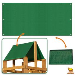 """43""""x90"""" Waterproof Replacement Canopy for Backyard Wood Play"""