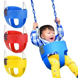 Full Bucket Swing for Baby Seat Set Playground Outdoors Play