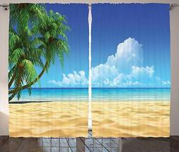 Palm Beach Curtains 2 Panel Set Decor 5 Sizes Available Wind