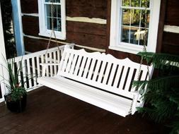 A&L Furniture Amish-Made Pine Royal English Porch Swings - 4