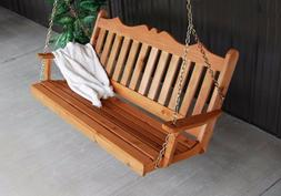 A&L Furniture Co. Amish-Made Cedar Royal English Porch Swing