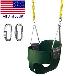 Safari Swings High Back Full Bucket Swing, MADE IN USA, With