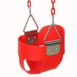 Funmily High Back Full Bucket Toddler Swing Seat with 60 inc