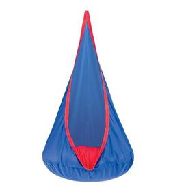 HearthSong® Blue Hugglepod Deluxe Hanging Cocoon Chair Hamm