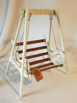 Boyd's Bears Accessories Wrought Iron Wood Swing NWT Doll To
