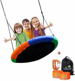 Blue Island Childrens Tree Swing with Hanging Ropes 400lb Tr