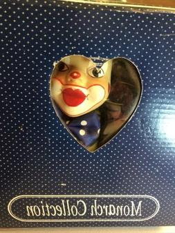 Clown Puppet on swing Monarch Collection in box Vintage stri