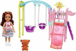 ​Barbie Club Chelsea Doll and Swing Set Playset with 2 Swi