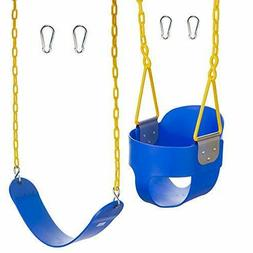 Squirrel Products Combo High Back Full Bucket Swing Seat Tri
