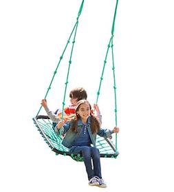 Deluxe Outdoor Platform Tree Swing for Yard or Playground Mu