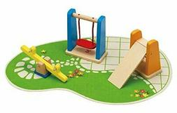 Hape E3461  Wooden Doll House Furniture Playground Set And A