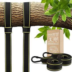 Tree Swing Straps Hanging Kit - Two 10ft Straps, Holds 2800