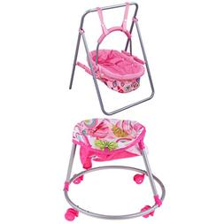 SM SunniMix Foldable Doll Baby Strollers Toddler Chair Doll
