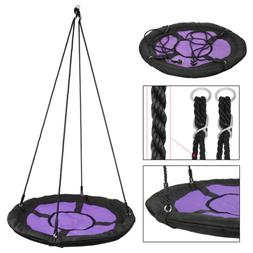 "Giant 40"" Disc Swing Seat Flying Saucer Tree web Swings Play"