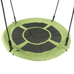 "Giant 40"" Saucer Tree Swing in Elite Green 400 lb Weight Cap"