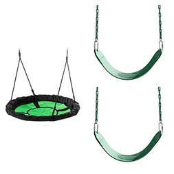 Green Swing Seat and Nest Swing Bundle - Includes 2 Green Be