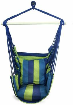 Sorbus Hanging Rope Hammock Chair Swing Seat Indoor or Outdo