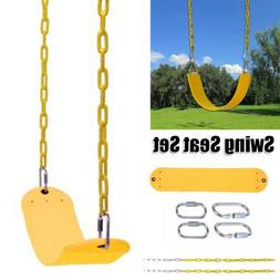 Heavy Duty Swing Seat Set Accessories Replacement with Coate