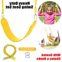 Heavy Duty Swing Seat -Swing Set Accessories with Coated Cha