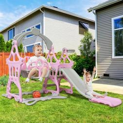 Indoor Outdoor Kids Play Slide Set Climber Playset Playgroun