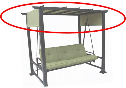 3 person pergola swing replacement canopy