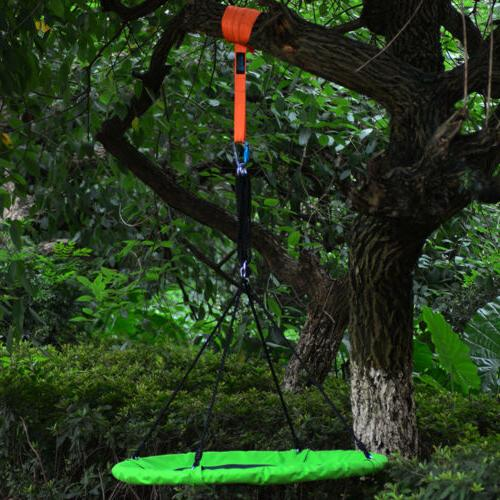 40'' Outdoor Chair Round Hanging Rope Yard