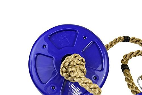 Squirrel Rope with Additions & Active Outdoor Play Equipment - Blue