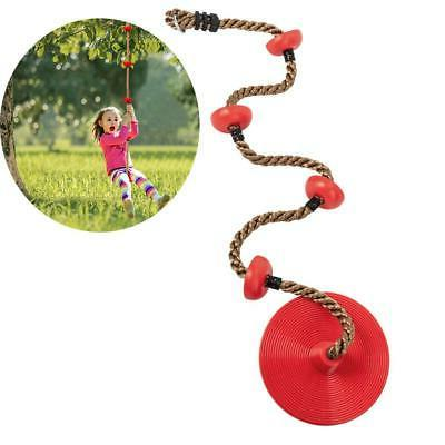 Climbing Swings Rope With Platforms And Disc Seat Red - Swin