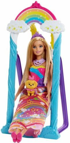 Barbie Dreamtopia Rainbow Cove Princess Doll and Swing Set