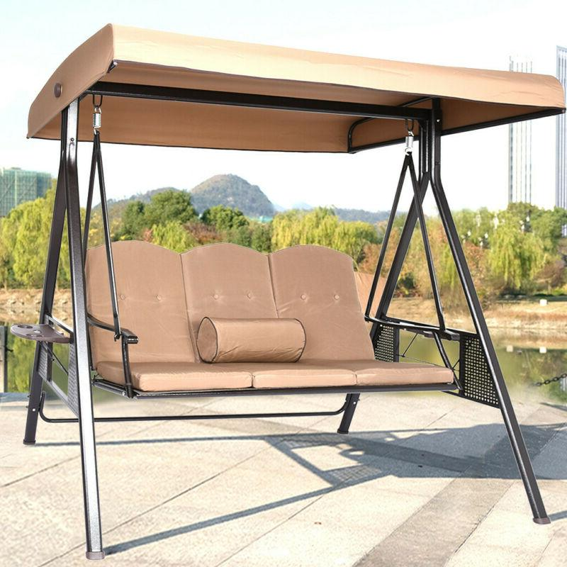 Outdoor Canopy Swing Patio Chair Lounge 2/3-Person Seats Ham