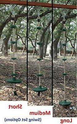 Jungle Swing Climbing Rope with Platforms Disc ...