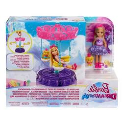 New Barbie Dreamtopia Chelsea Doll with Carousel Swing and P