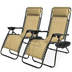 Case Of  Zero Gravity Chairs Folding Lounge Beach Outdoor Pa