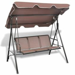 Outdoor Canopy Swing Patio Chair Lounge 3-Person Seat Hammoc