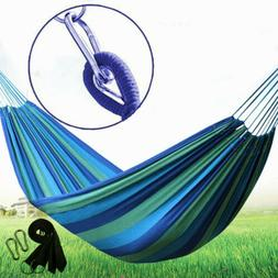 Outdoor Cotton Rope Hammock Hanging Swing Camping Canvas Bed