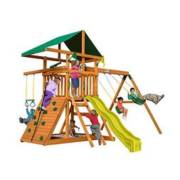 Outing Play and SwingSets with Wave Slide, Two Swings, Rock