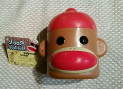 SOCK MONKEY SWINGING GAME HEAD SHAPED CONTAINER CUP PATCH PR