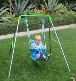 Sturdy Baby Toddler Swing Set Portable Kids Indoor Park Outd