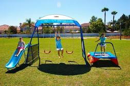 Outdoor Play Kids Double Swing Set For Backyard Playground O