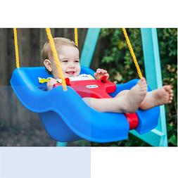 Little Tikes Swing Toddler Baby 2 in 1 Snug N Secure Blue