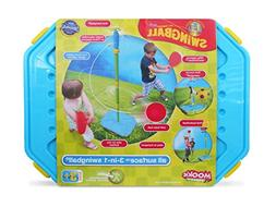 Mookie Swingball 3 in 1 Portable Game Set - Tetherball, Bask