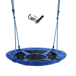 Tree Swing 40'' Round Saucer Swing Set With Steel