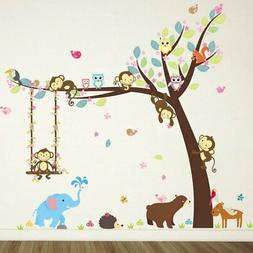 ZY139 Monkey swings to remove wall stickers household daily